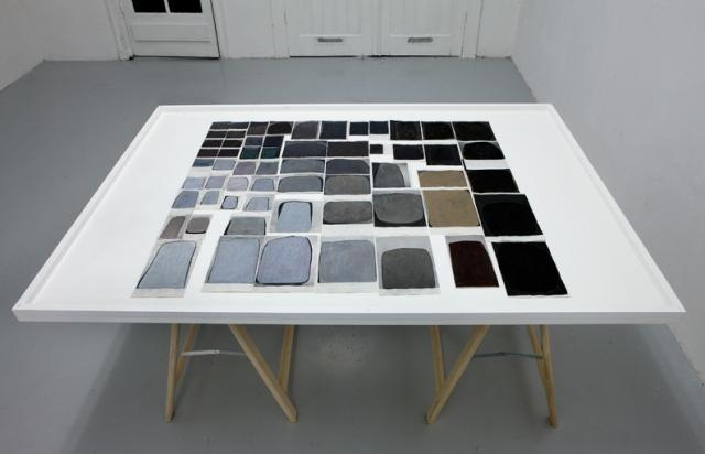 Ran Zhang,Auraegos, 2009,acrylic, watercolor, ink, oil pastel on paper,