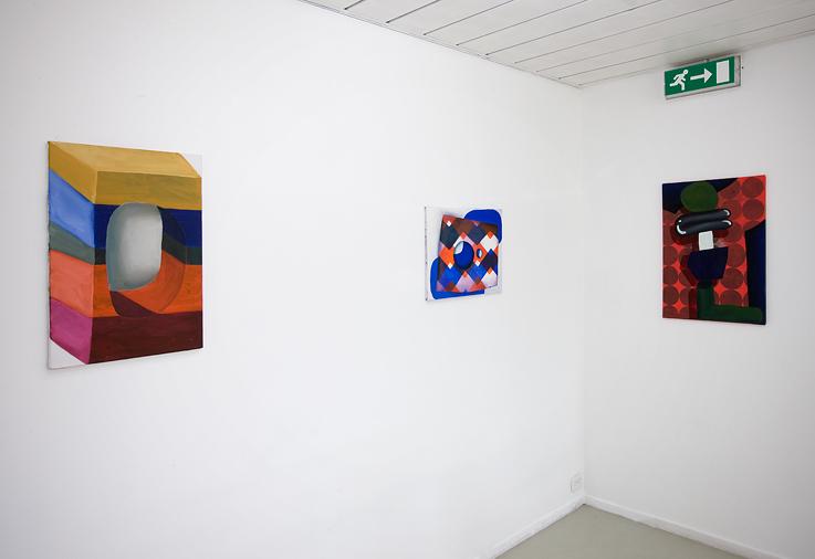 Sarah Verbeek, installation view(right) June 2011, ApiceforArtists